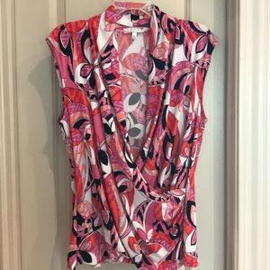 Pink and Orange Multi Color Top